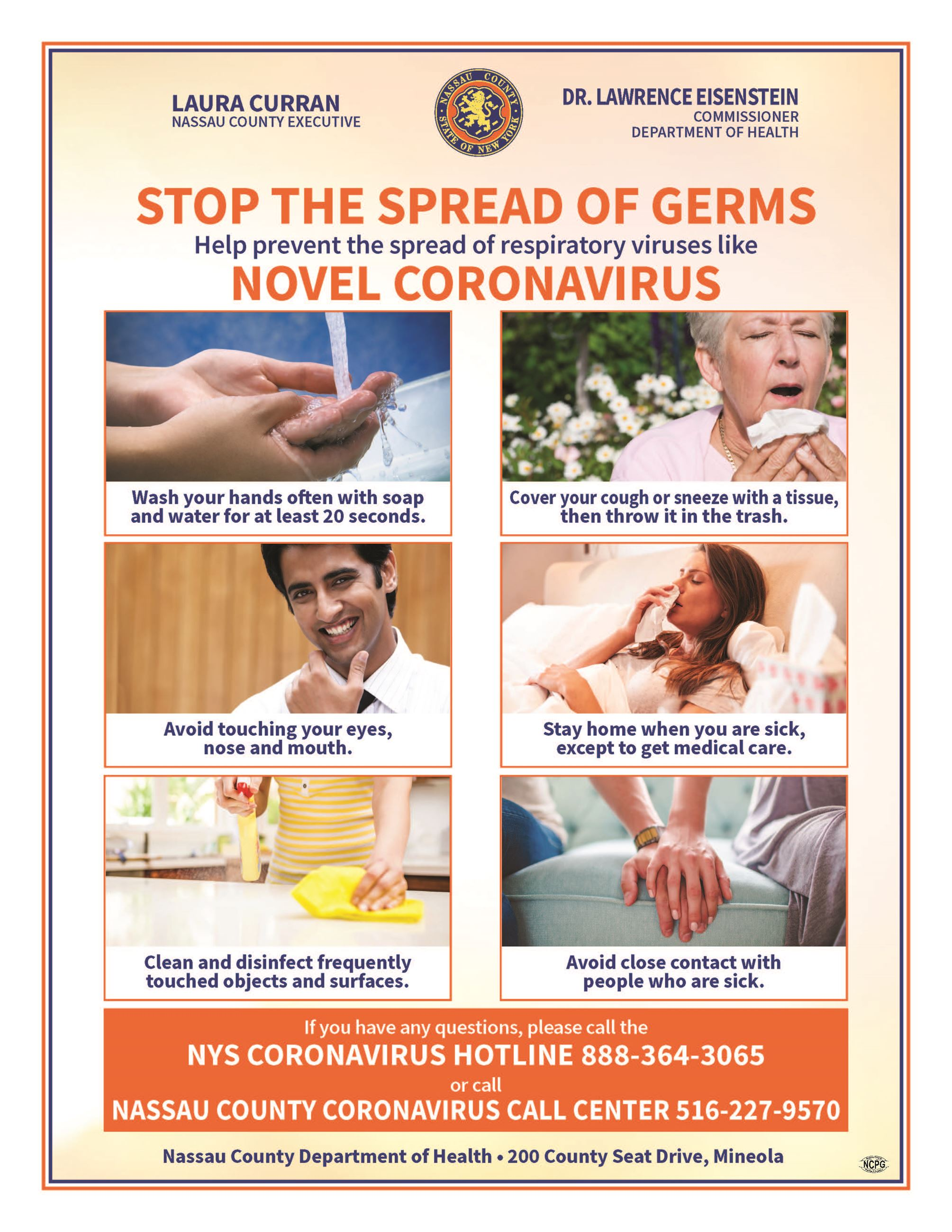 Stop The Spread of Germs help prevent the spread of viruses