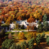 Aerial view of home in fall