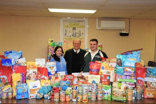 MANGANO AND LI CARES COLLECT HUNDREDS OF POUNDS OF PET FOOD AND SUPPLIES FOR DISADVANTAGED FAMILIES