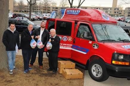 MANGANO PARTNERS WITH LI CARES TO DISTRIBUTE TURKEYS TO VETERANS